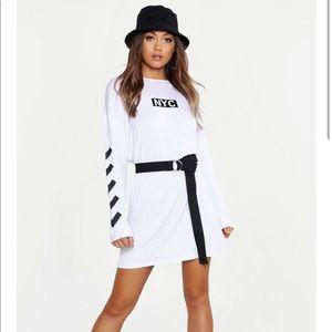 Boohoo NYC Long Sleeve T-Shirt Dress